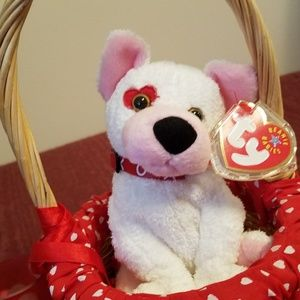 TY Beanie Baby Cupid Dog/Puppy/Candle Bundle